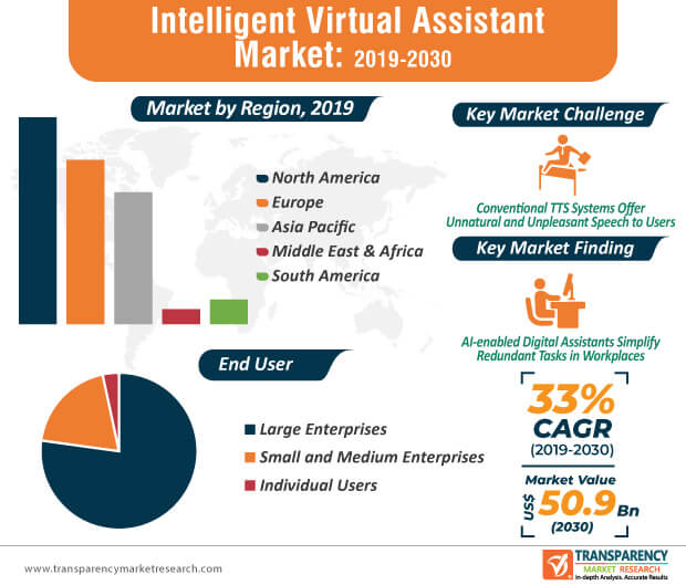 Intelligent Virtual Assistant Market Infographic