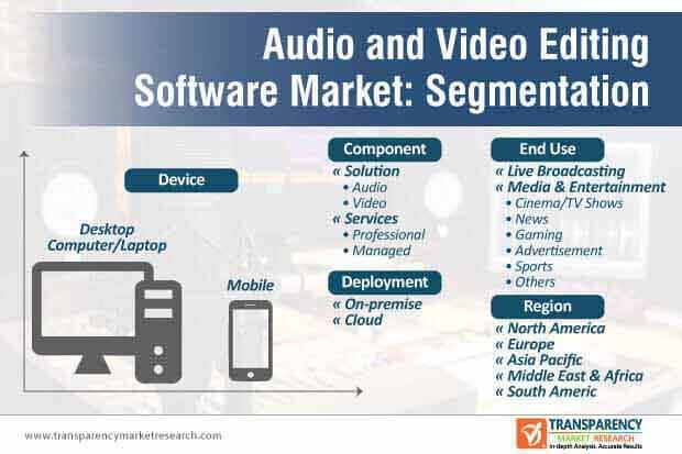 audio video editing software market segmentation