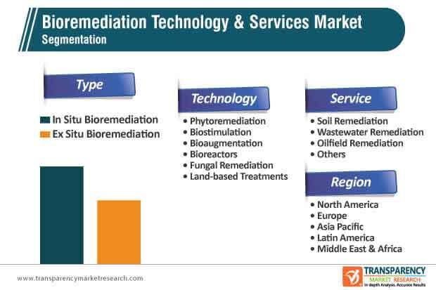 bioremediation technology services market segmentation