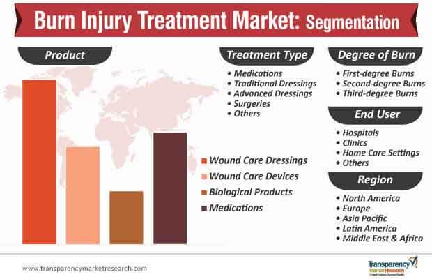 burn injury treatment market segmentation