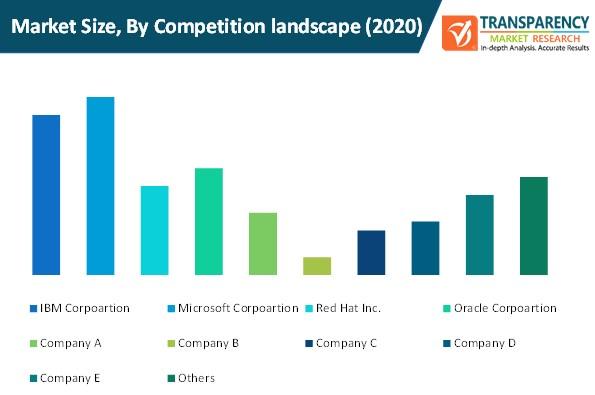 cloud application market size by competition landscape