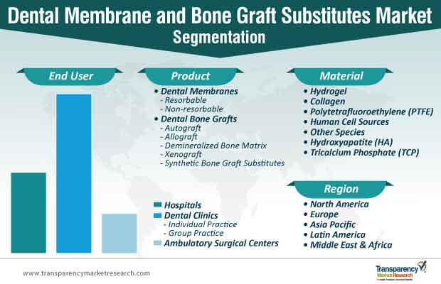 dental membrane and bone graft substitutes market segmentation