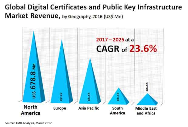 digital certificates public key infrastructure market