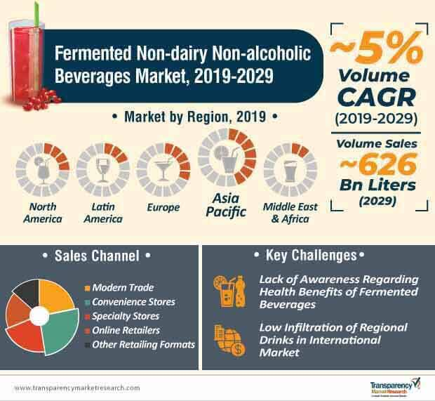 fermented non dairy non alcoholic beverages market infographic