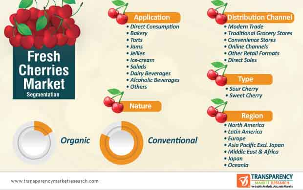 fresh cherries market segmentation