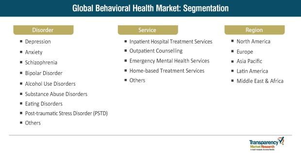 global behavioral health market segmentation