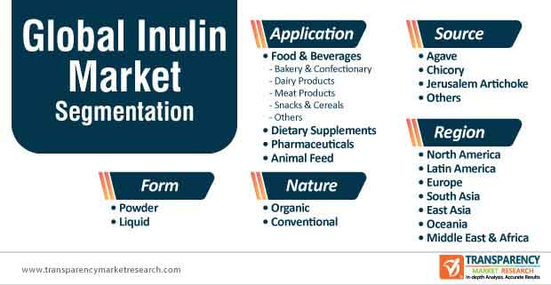 global inulin market segmentation