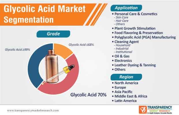 glycolic acid market segmentation