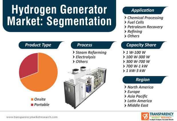 hydrogen generator market segmentation