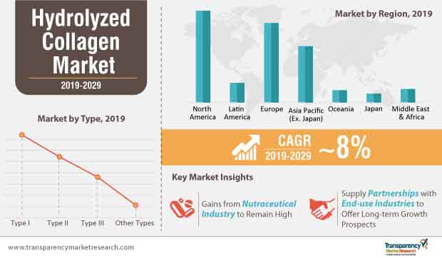 hydrolyzed collagen market infographic