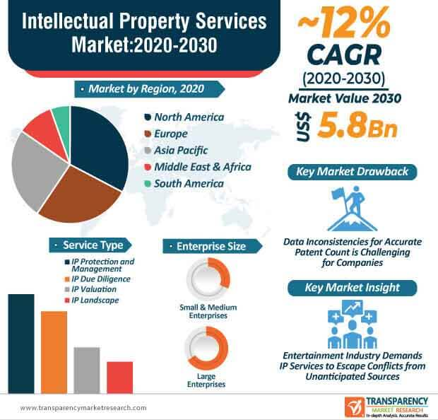 intellectual property services market infographic