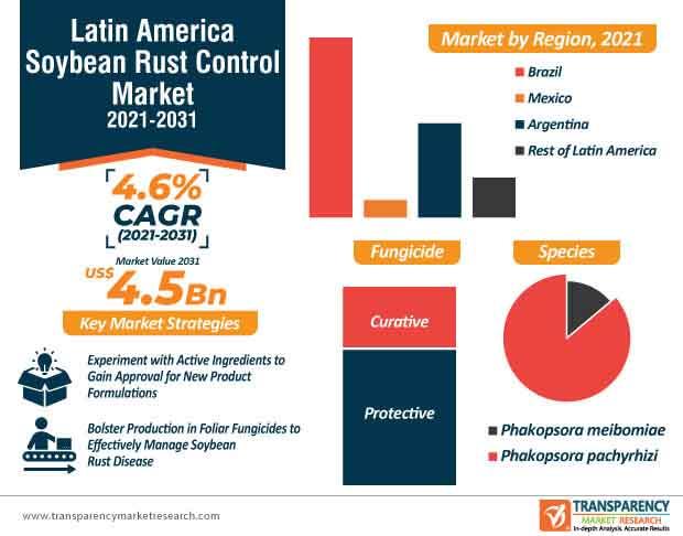 latin america soybean rust control market infographic