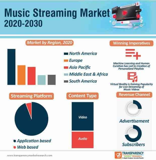 music streaming market infographic