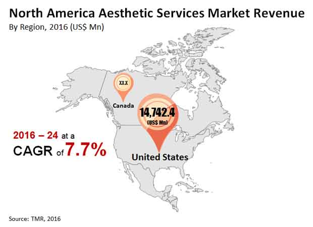 north america aesthetic services market