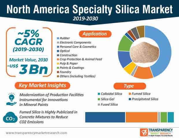 north america specialty silica market infographic