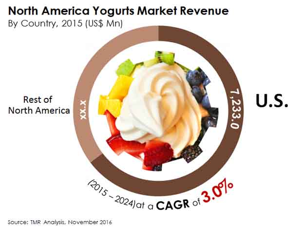 north america yogurts market