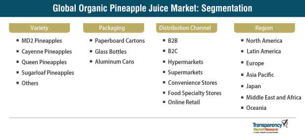 organic pineapple juice market segmentation