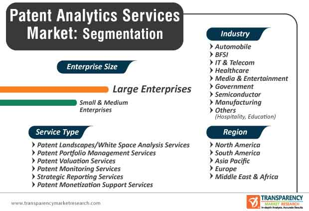 patent analytics services market segmentation