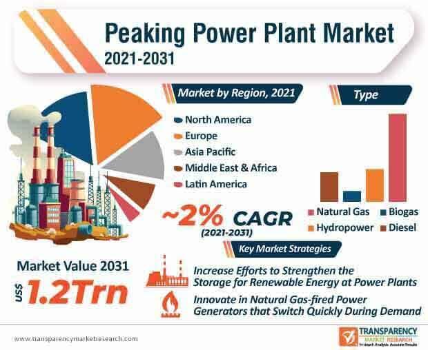 peaking power plant market infographic