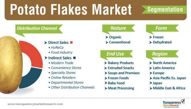 potato flakes market segmentation