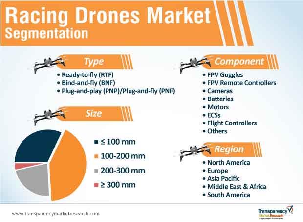 racing drones market segmentation