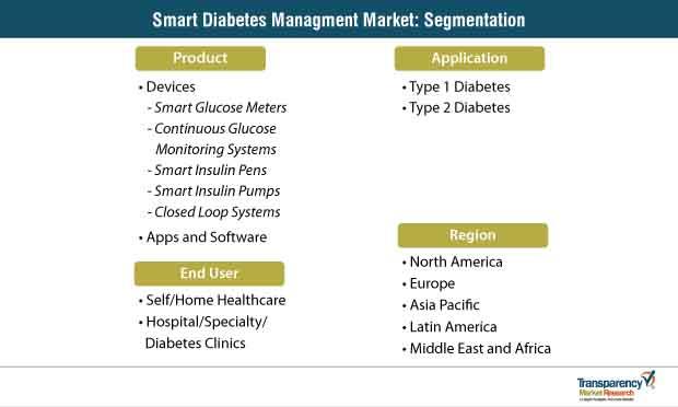 smart diabetes managment market segmentation
