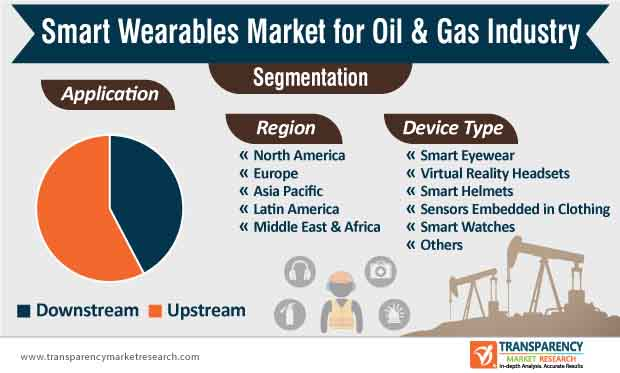 smart wearables market for oil gas industry segmentation