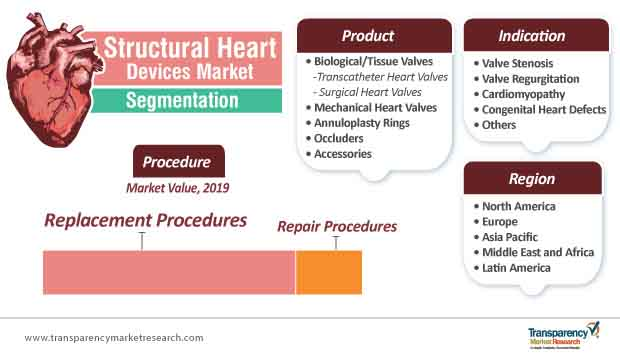 structural heart devices market segmentation