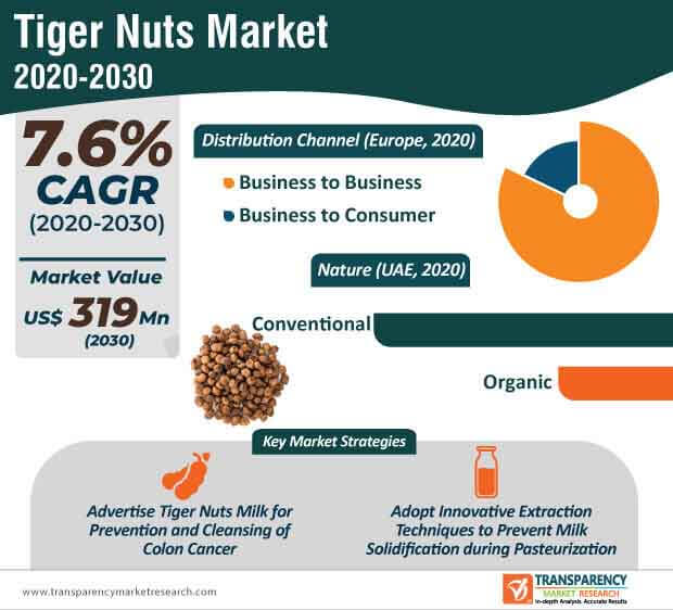 tiger nuts market infographic