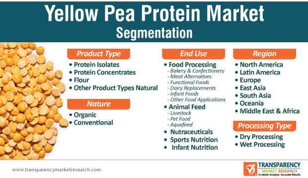 yellow pea protein market segmentation